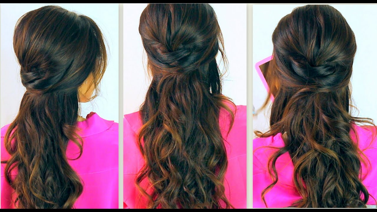 ... HAIRSTYLES | EVERYDAY PROM CURLY HALF-UP UPDOS FOR MEDIUM LONG HAIR