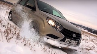 Lada Vesta, Lada XRAY и Datsun miDO: зимний тест. Видео тесты За Рулем.