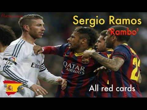 Sergio Ramos All Red Cards Career