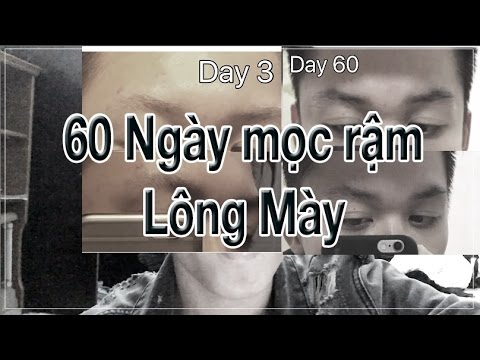 Mọc rậm lông mày trong 60 ngày với công thức rẻ