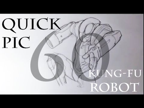 QP: Kungfu Robot in 60 Seconds - Easy Things To Draw