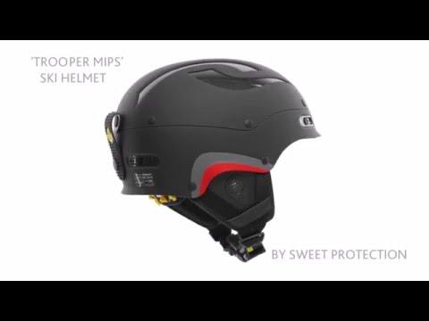 Sweet Protection Sweet Trooper MIPS Ski Helmet In Dirt Black