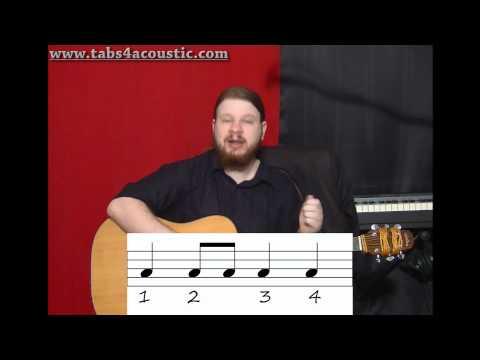 Cours de guitare : Le rythme 2 : Les croches - Partie 2