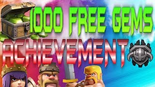 CLASH OF CLANS HOW TO GET 1000 FREE GEMS EASY