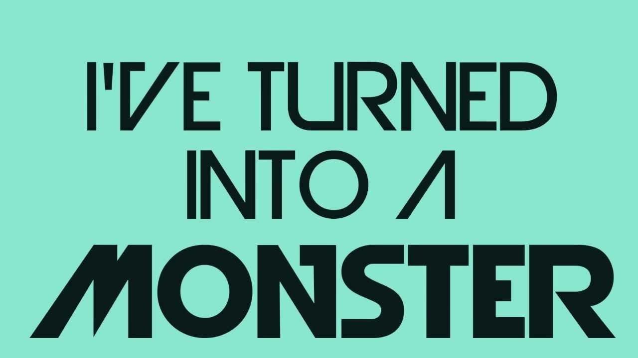 Imagine Dragons - Monster (Lyrics on Screen) - YouTube