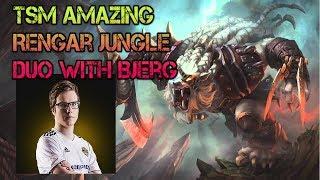 TSM Amazing Rengar Jungle VS Amumu Duo With Bjergsen