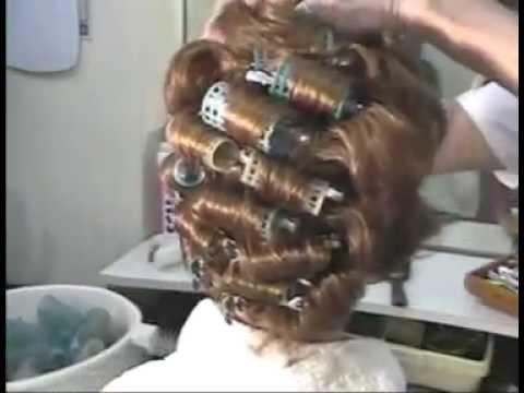 Beauty Salon Sissy Roller Setting