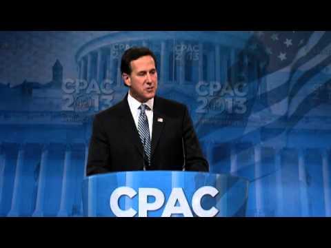 CPAC 2013 - Former Sen. Rick Santorum