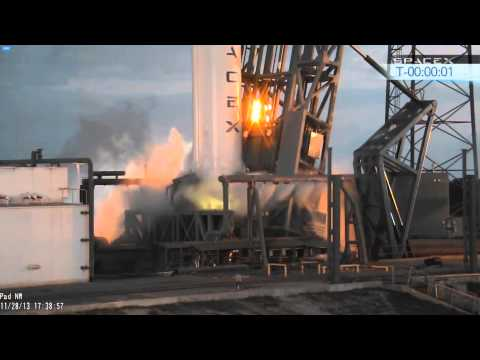 SpaceX Falcon 9 v1.1 - SES-8. Second launch attempt abort. 2013-11-28, 17:39:58 local time.