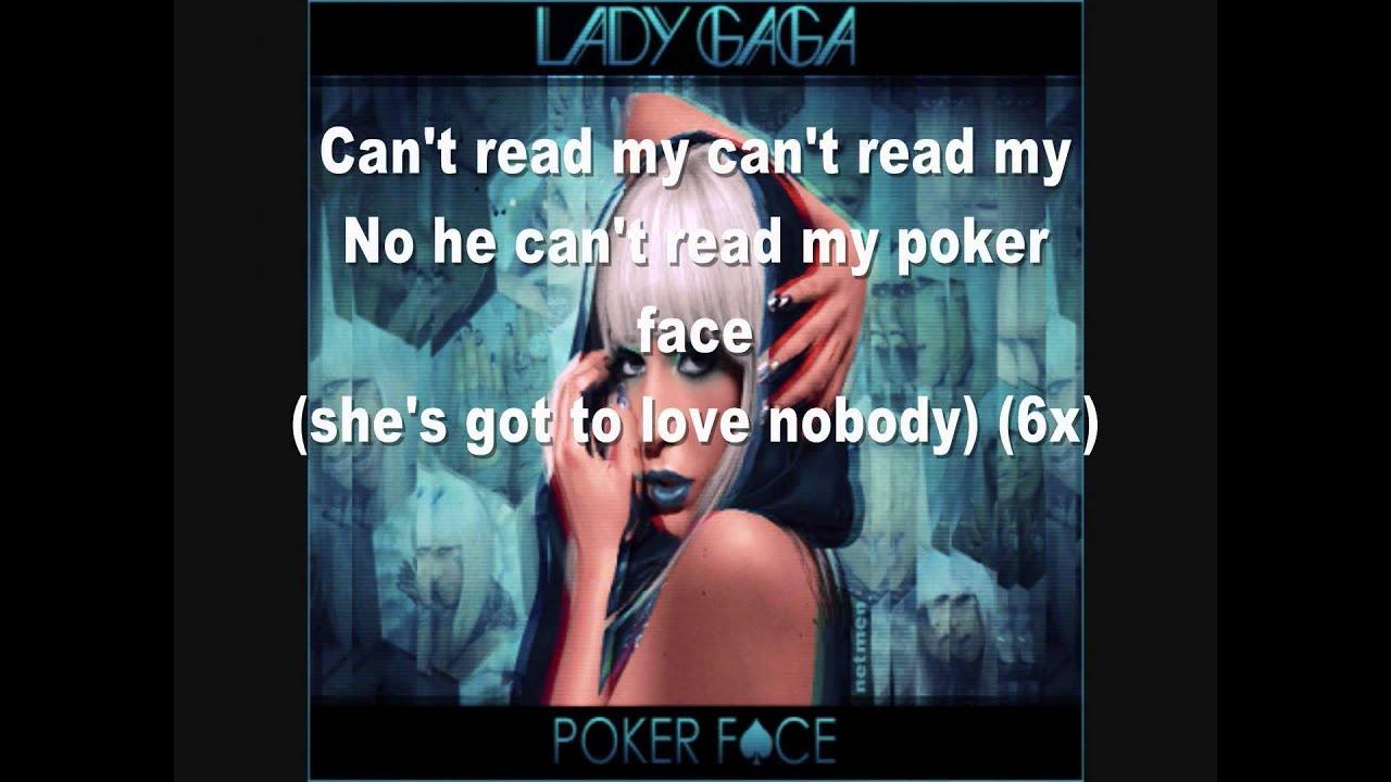Lady gaga poker face letra