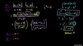 Kompleksna števila – množenje in deljenje