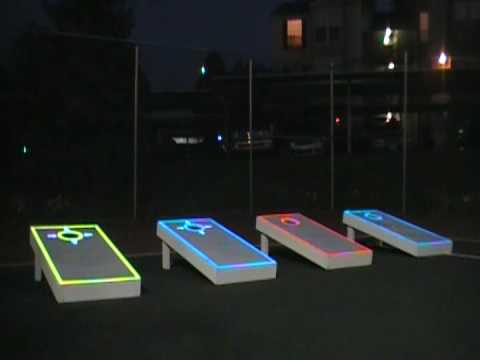 Lumipic Lighted Cornhole Overlays in Action - YouTube