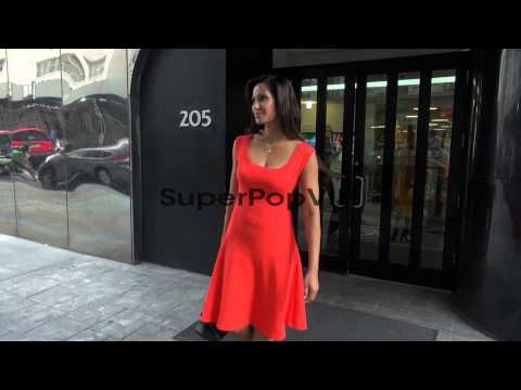 Padma Lakshmi at the 'Good Day New York' studio Padma Lak...