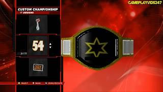 WWE 2K14: Create A Championship Belt Complete Showoff