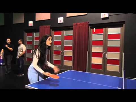 Camila and Austin playing Ping Pong