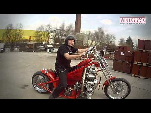 Airplane Engine Powered Motorcycle_1