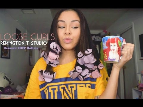 QUICK & EASY CURLS IN 10 MINS With HOT Rollers | Stephanie Lopez