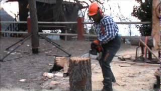 Miini sillas sacadas de un tronco