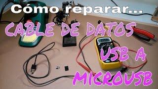 Aprende a reparar un cable de datos USB