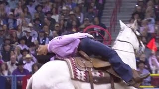 Driggers & Nogueira are 4.0 Seconds to split win   NFR 2016   Team Roping   Round 5