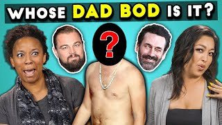 Guess The Celebrities' Dad Bods Challenge!