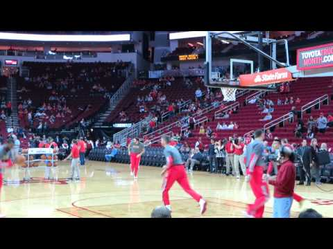 20140406 Rockets vs Nuggets, Jeremy Lin pregame practice