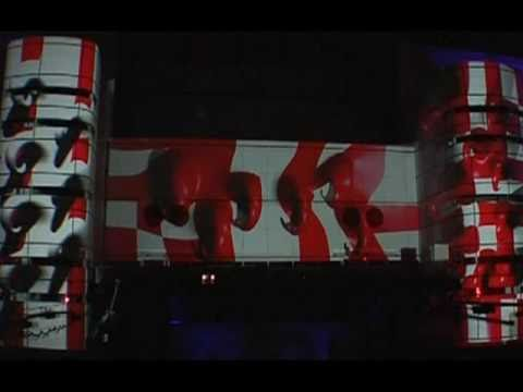 LD Systems - Gloworama New Year's Eve 2011 - 3D Projection Mapping - Houston, TX