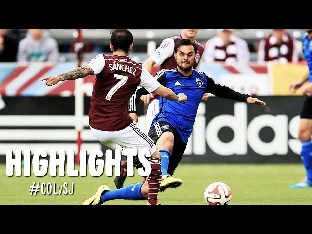 HIGHLIGHTS: Colorado Rapids vs. San Jose Earthquakes | April 19, 2014