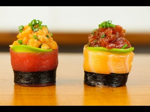 Spicy Tuna Salmon Sushi Roll - Beautiful Food Recipe