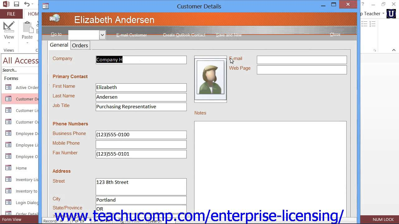 Access training access training database examples for Automated templates for intros