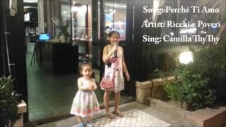 Chị hát em nhảy ở nhà hàng bên Ý (7.2015)