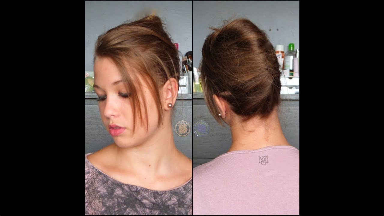 tutoriel coiffure n 18 chignon banane en 3 minutes. Black Bedroom Furniture Sets. Home Design Ideas