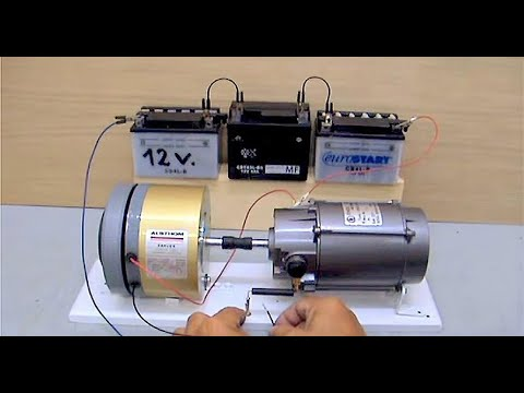 Electric motor generator youtube Dc motor to generator