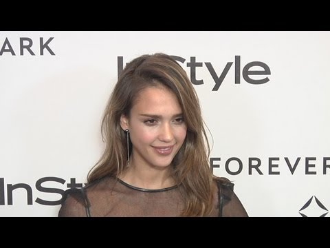 Jessica Alba Forevermark And InStyle Golden Globes 2012 Event EXCLUSIVE