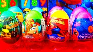 8 Surprise Eggs Pixar Toy Story Disney Princess Spider-Man