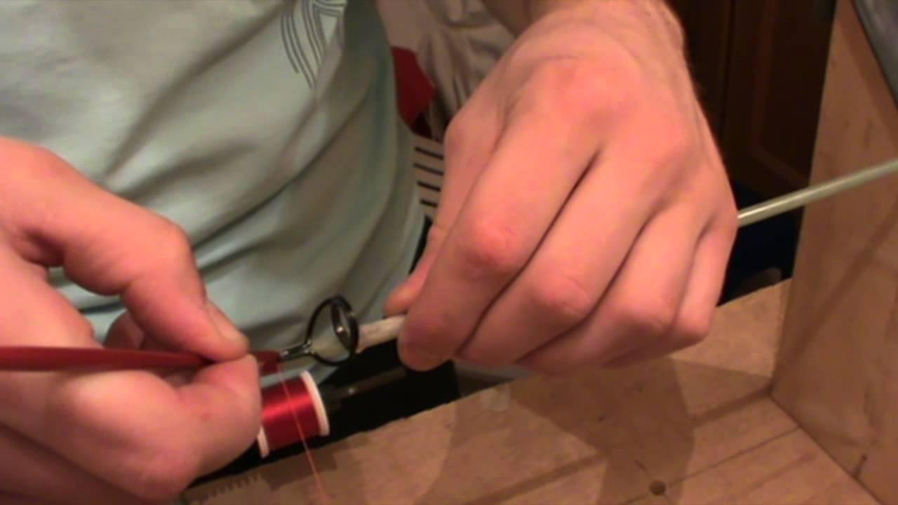 P che tutoriel ligaturer un anneau de canne p che for Canne a peche fil interieur