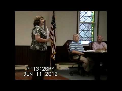 Chazy Town Board Meeting 6-11-12