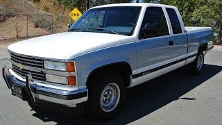 1 Owner 1990 Chevy 1500 Extended Cab Pickup Truck 46000 Orig Miles C1500 A+ videos