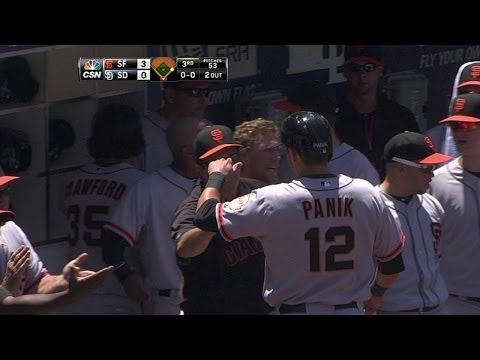 SF@SD: Morse singles to give the Giants a 3-0 lead