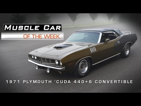 Muscle Car Of The Week Video #19: 1971 Plymouth 'Cuda 440-6 Convertibl