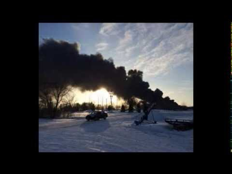 Train Derailment ND North Dakota Fire