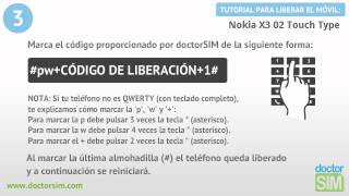 Liberar Nokia X3 02 Touch Type, Desbloquear Nokia X3 02