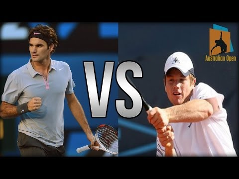 Roger Federer Vs Blaz Kavcic Australian Open 2014 Highlights