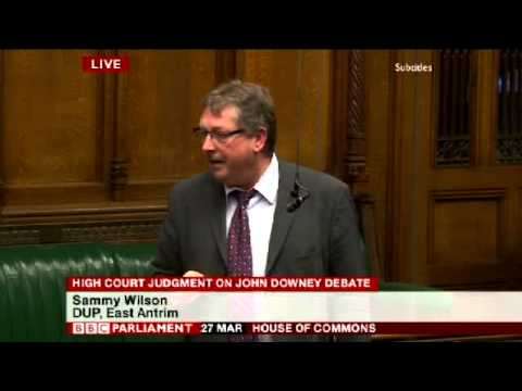 Sammy Wilson - Parliamentary Debate on Secret OTR Scheme
