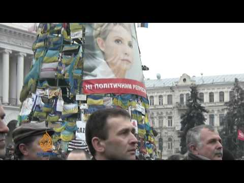 Protesters rally in Kiev's independence square