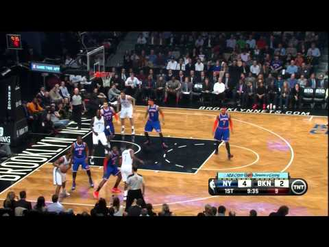 Knicks at Nets: KG Monster Slam, Bargnani Slams Right Back