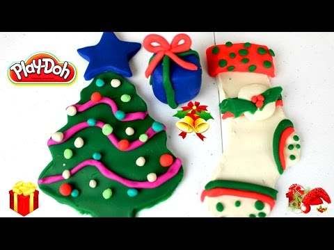 Plastilina Play Doh Arbolito de Navidad Bota Navideña y Regalo de Navidad