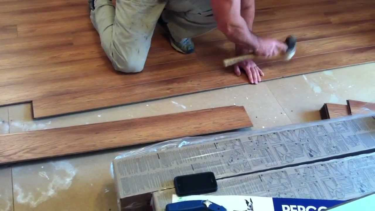 Pergo laminate flooring installation youtube for Floor installation