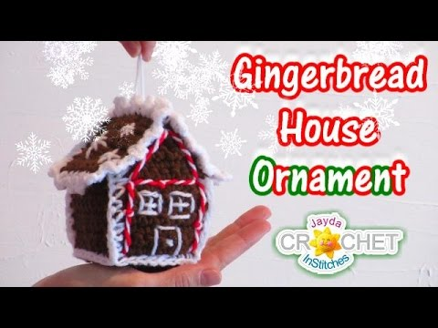 Crochet Gingerbread House Tree Ornament