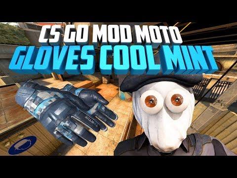 CS GO MOD MOTO GLOVES COOL MINT FOR CSS V89